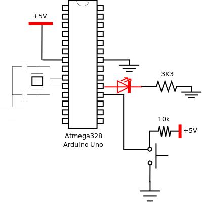 Sense key toggle LED